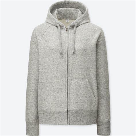 Uniqlo Sweatshirt Vintage Sweater 1 lyst uniqlo sweat sleeve zip hoodie in gray