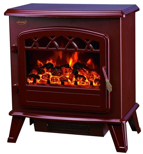 electric fireplace logs with heater 20 quot electric fireplace portable freestanding brown firebox