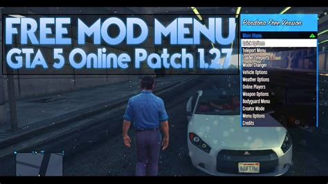 mod gta 5 online download gta 5 online best free quot mod menu quot gta 5 1 27 mods rgh