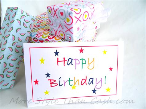 printable birthday card decorations inexpensive greeting card ideas