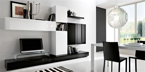 Modern Black And White Living Room by Black And White Minimalist Living Room Tv Cabinet Silvano