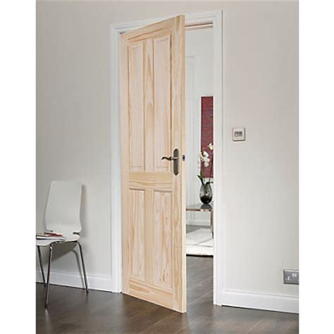 Homebase Patio Doors 4 Panel Clear Pine Door 762mm Wide