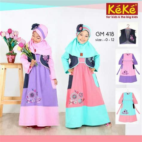 Harga Baju Gamis Merk Keke jual baju muslim anak millana new baju muslim anak