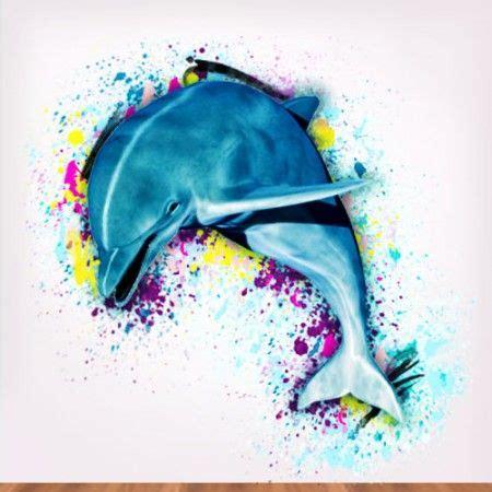 watercolor tattoos dolphin artsy dolphin watercolor https www walljungle artful