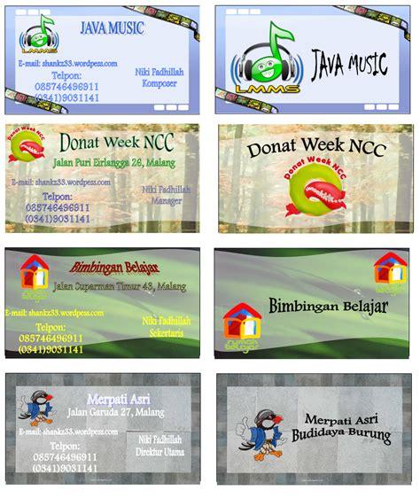 buat kartu nama word kartu nama shankz33 s blog