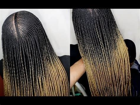 how to: do micro box braids with cornrows (step by step