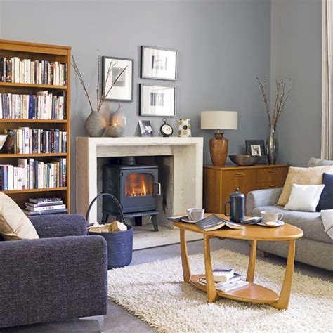 Gray Blue Living Room Grey And Blue Living Room Living Rooms Design Ideas Image Housetohome Co Uk