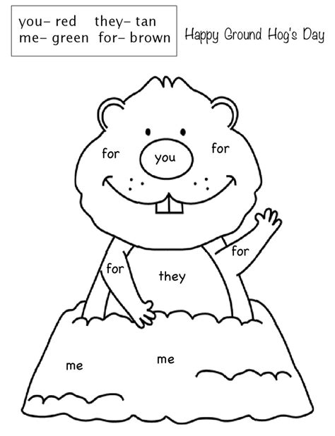 groundhog coloring pages preschool 25 best ideas about groundhog day on pinterest