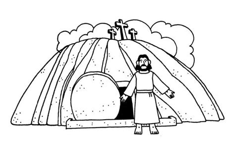 coloring pages jesus death and resurrection jesus burial and jesus resurrection coloring page netart