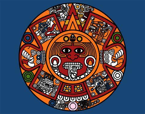 El Calendario Azteca Dibujo De Calendario Azteca Pintado Por En Dibujos Net El