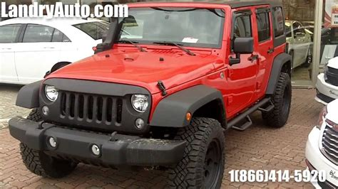 red customized jeep wranglers 2014 jeep wrangler unlimited sport red customized by