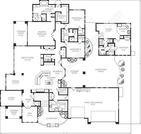 Detached In Suite Floor Plans by House Plans With Detached Casitas