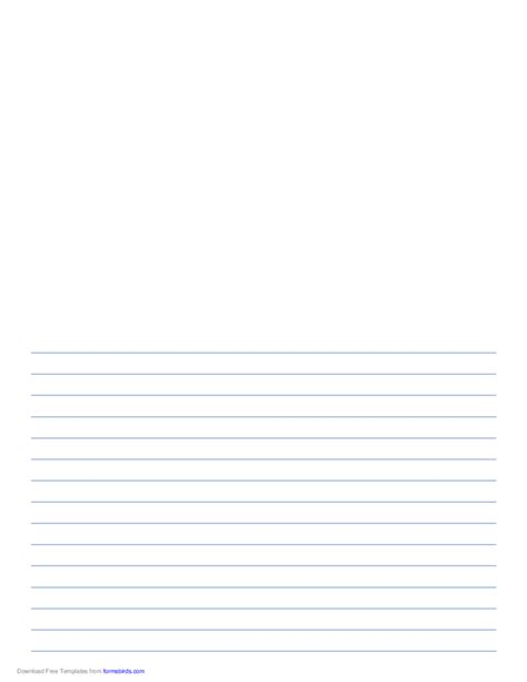 Printable Lined Paper With Room For Picture   writing paper with room for picture blue lines free download