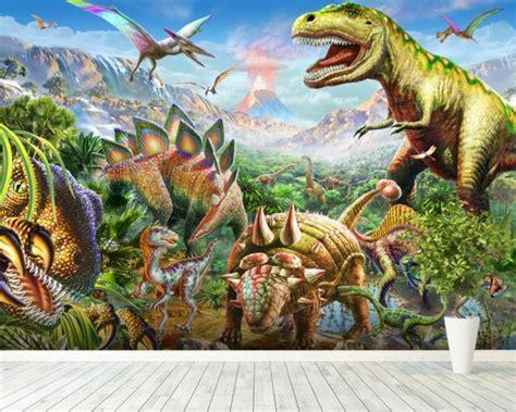 dinosaur wall mural dino wall mural dino wallpaper wallsauce usa