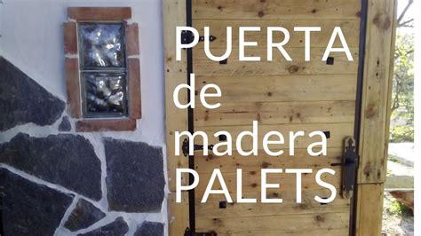 puerta de madera de palets youtube