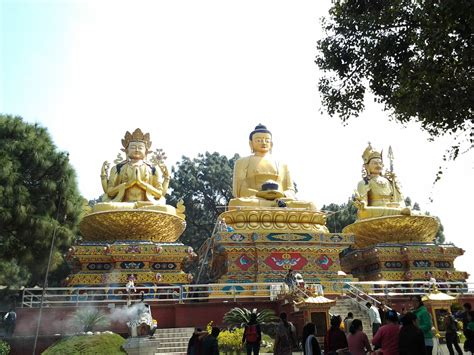 Statues Of Gods by Swayambhu Environmental Park Kathmandu Nepal Around