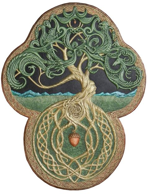 The Celtic Tree Of Life Cast Paper Large Tree Green Celtic Tree Of Pictures