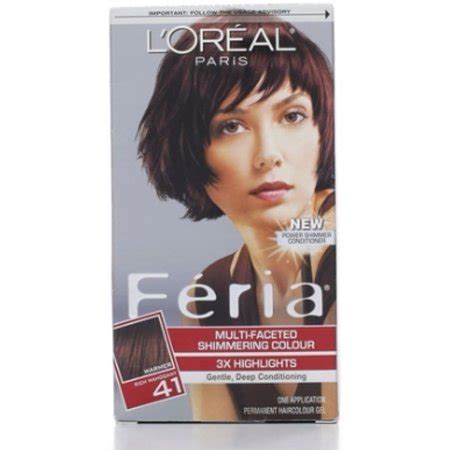 l oreal feria 174 multi faceted shimmering colour hair color shop your way shopping l oreal feria permanent multi faceted shimmering colour 41 rich mahogany 1 ea pack of 3
