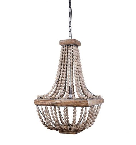 Beaded Wood Chandelier Farmhouse Kitchen Products To Get The Fixer Look Home Stories A To Z
