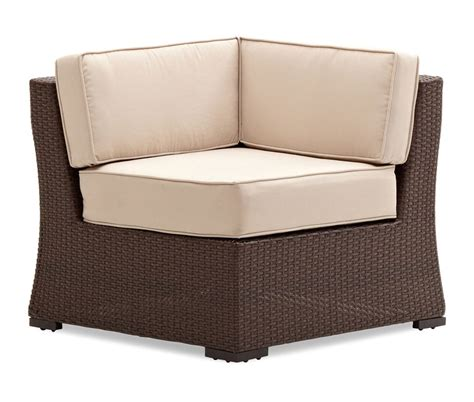 Sectional Corner Chair by Strathwood Griffen All Weather Wicker Sectional Corner Chair Brown Patio