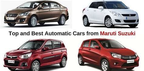 Suzuki Automatic Cars Top And Best Automatic Cars From Maruti Suzuki Amt Cars