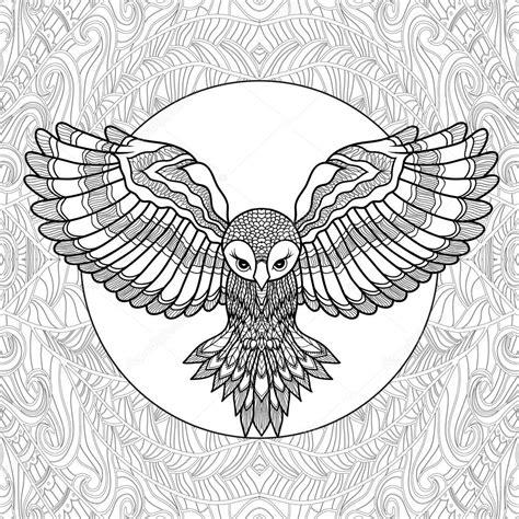 imagenes hipster para dibujar coloring owl bird pattern vector de stock