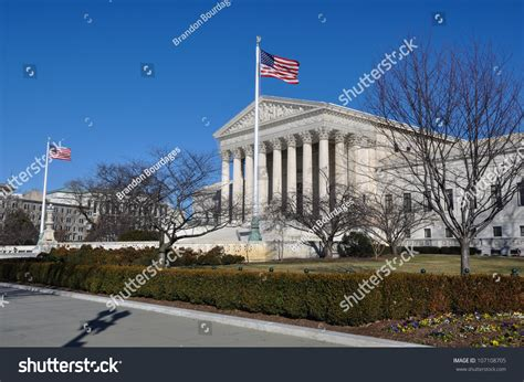 Washington Dc Court Search Supreme Court Building In Washington Dc Stock Photo 107108705