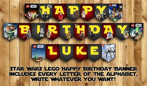 printable lego star wars birthday banner lego star wars happy birthday banner by instabirthday on etsy