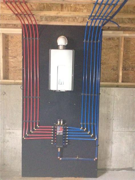 install   pex manifold   rinnai tankless water heater  daily pinterest water
