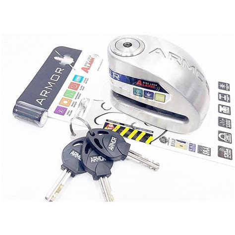armor mm alarmli disk kilidi motosiklet disk kilitleri