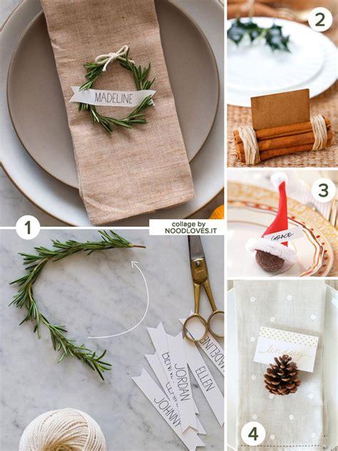 segnaposti tavola la tavola di natale le decorazioni e il bon ton noodloves