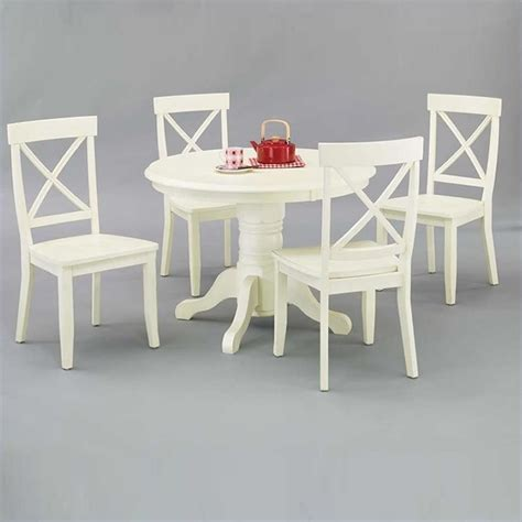 Pedestal Table And Chairs by Bistro Table In Antique White 5177 30