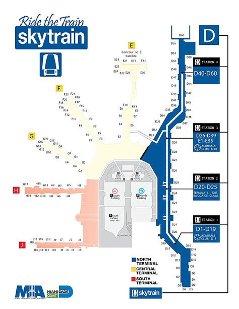 Shopping Center Floor Plan by Miami International Airport Map Skyride D North
