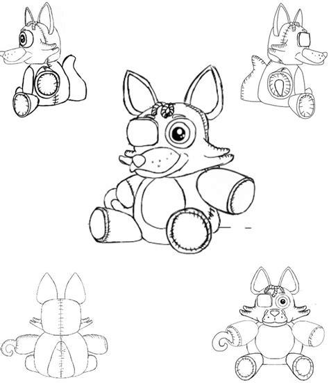 Fnaf 7 Coloring Pages by Fnaf Foxy Free Colouring Pages