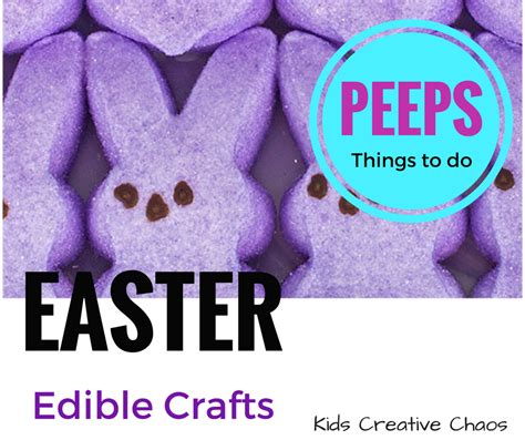 Easy Edible Easter Crafts Things To Do With Marshmallow
