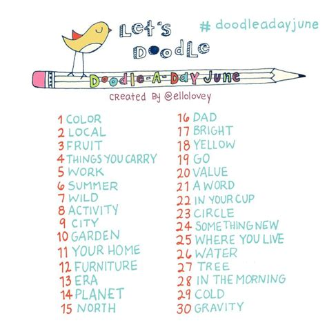 doodle challenge ideas 1000 images about doodle a day lists on