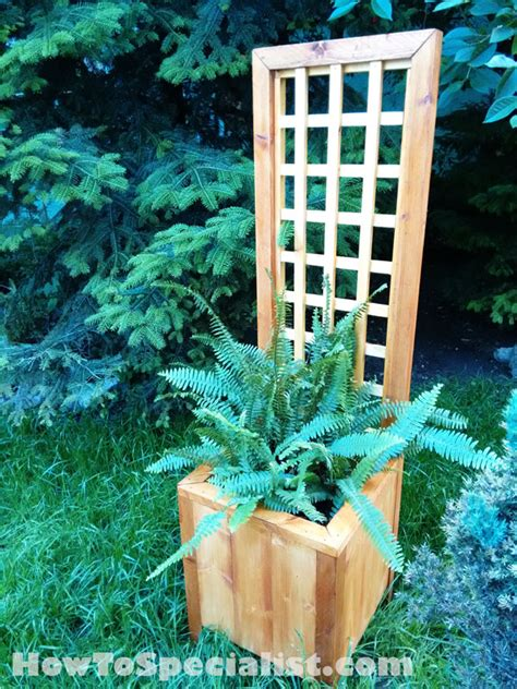 planter with trellis how to build a planter with trellis howtospecialist