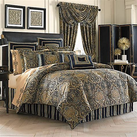 J Queen New York Venezia Comforter Set Bed Bath Beyond Blue And Gold Bedding Sets