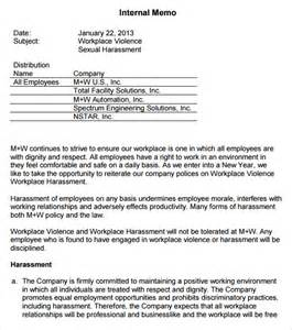Sexual Harassment Policy Template by Memo Templates 6 Free Word Pdf Documents