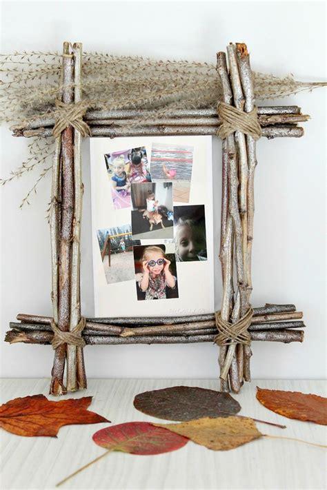 bilderrahmen landhausstil twig frame craft for unique rustic home decor inspiration