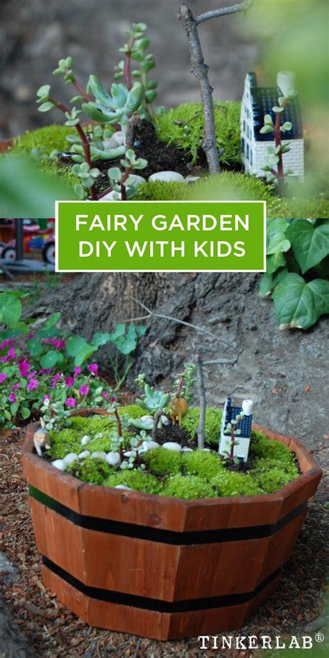 diy fairy garden  kids tinkerlab