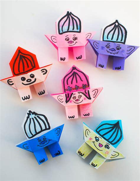 Origami For 6 Year Olds - origami troll dolls pink stripey socks