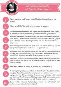 montessori nature 10 commandments of montessori