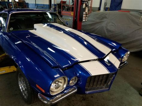 blue camaro with white stripes 1970 camaro blue with white stripes roller