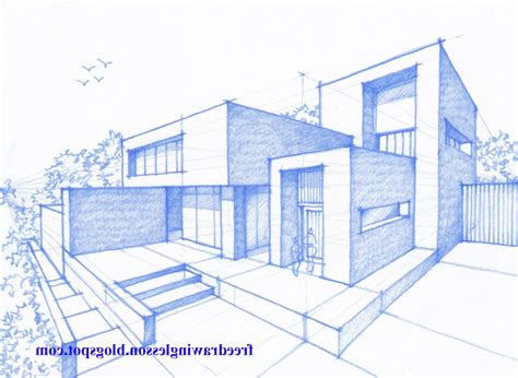 Drawing 2 Point Perspective Buildings by Building Perspective Drawing At Getdrawings Free For
