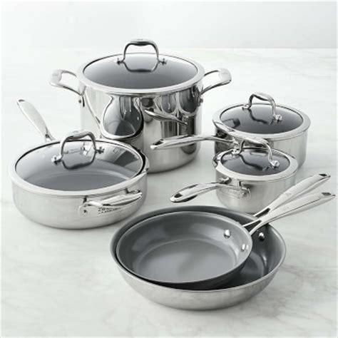 williams sonoma blue and white 3 piece ceramic canister zwilling titanium ceramic nonstick 10 piece cookware set