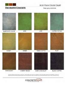 acid stain colors stained concrete diehl concrete