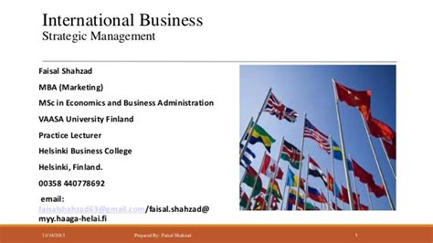 Of Iowa Business Mba In Marketing by International Business Strategic Management Market Entry