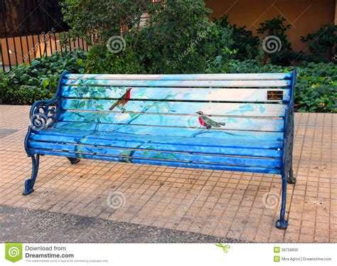 park bench art painted bench public art project chilean artists who park