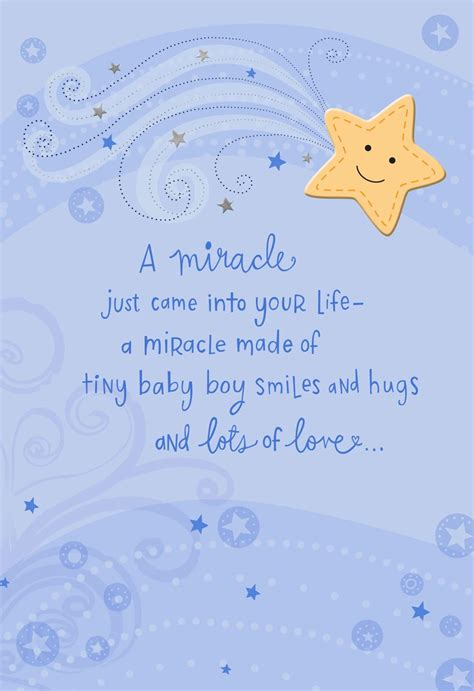 miracle    life  baby boy card greeting
